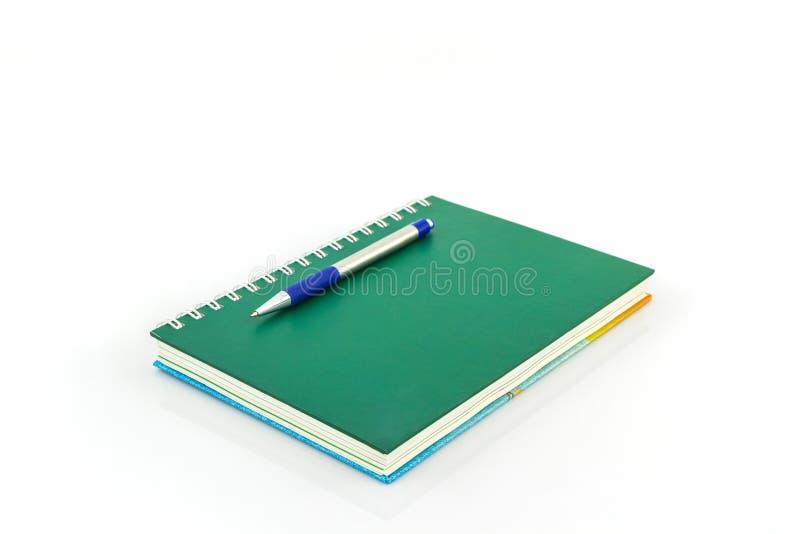 Groen spiraalvormig notitieboekje royalty-vrije stock foto