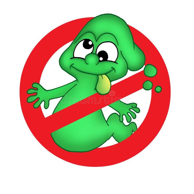 Groen spook royalty-vrije illustratie