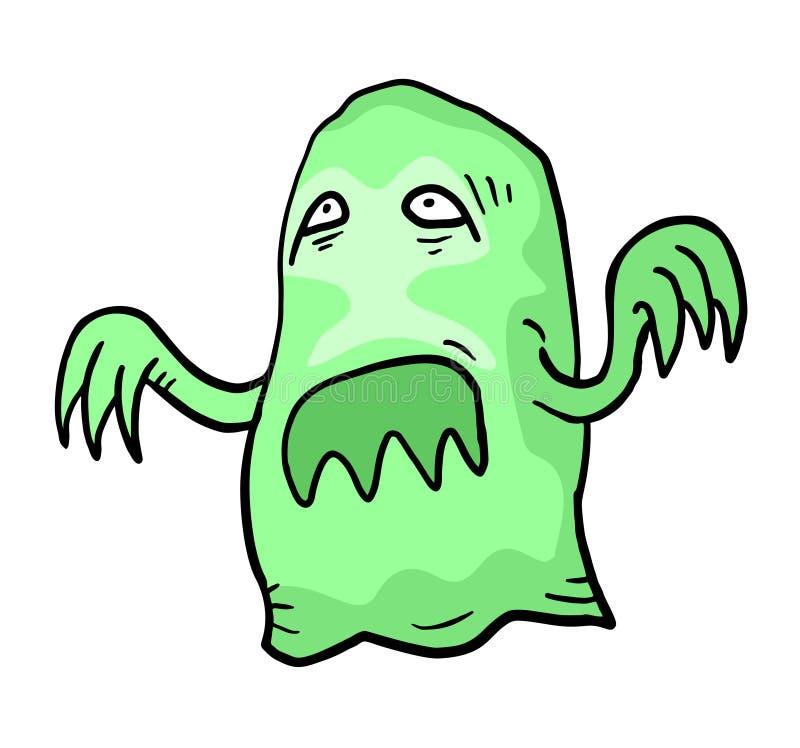 Groen spook stock illustratie