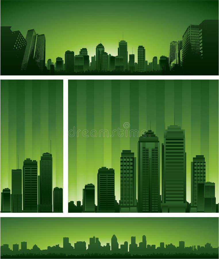 Groen stadsontwerp royalty-vrije illustratie