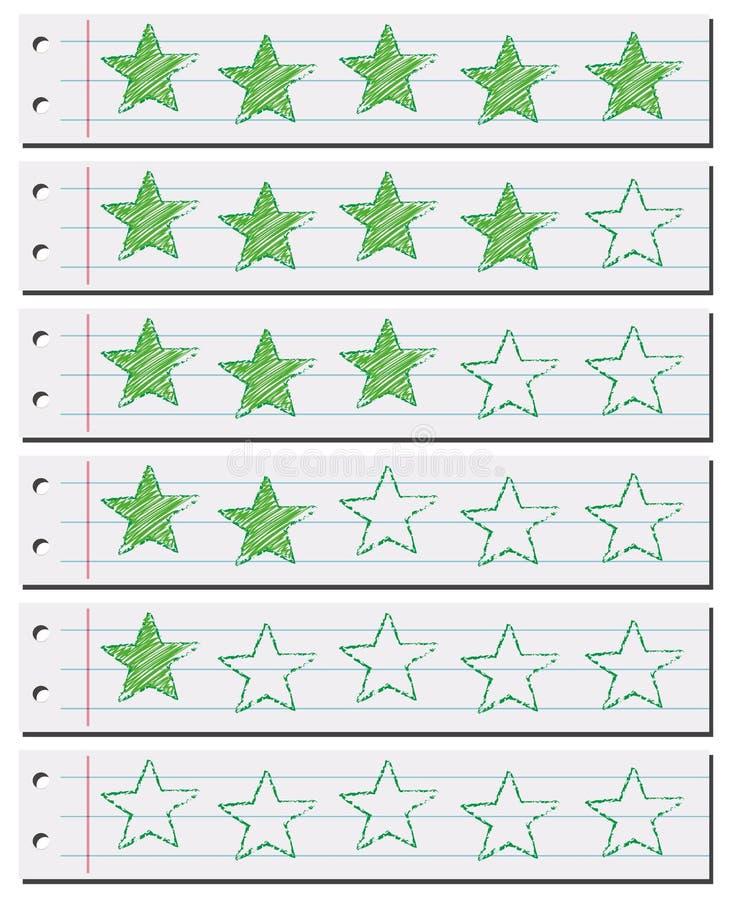 Groen sterren online document royalty-vrije illustratie