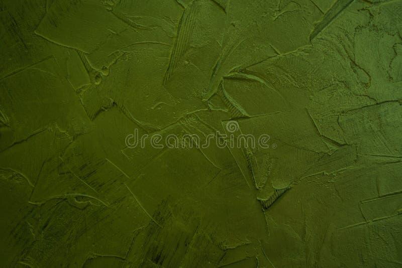 Groen structureel pleister Groene muren Uitstekende Creatieve Achtergrond royalty-vrije stock afbeelding