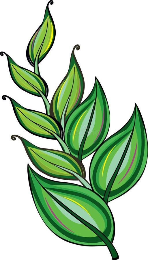 Groen takje stock illustratie