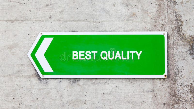 Groen teken - Beste kwaliteit royalty-vrije stock foto
