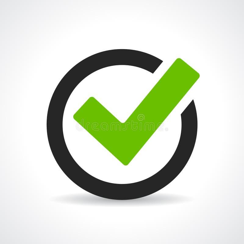 Groen tikpictogram stock illustratie