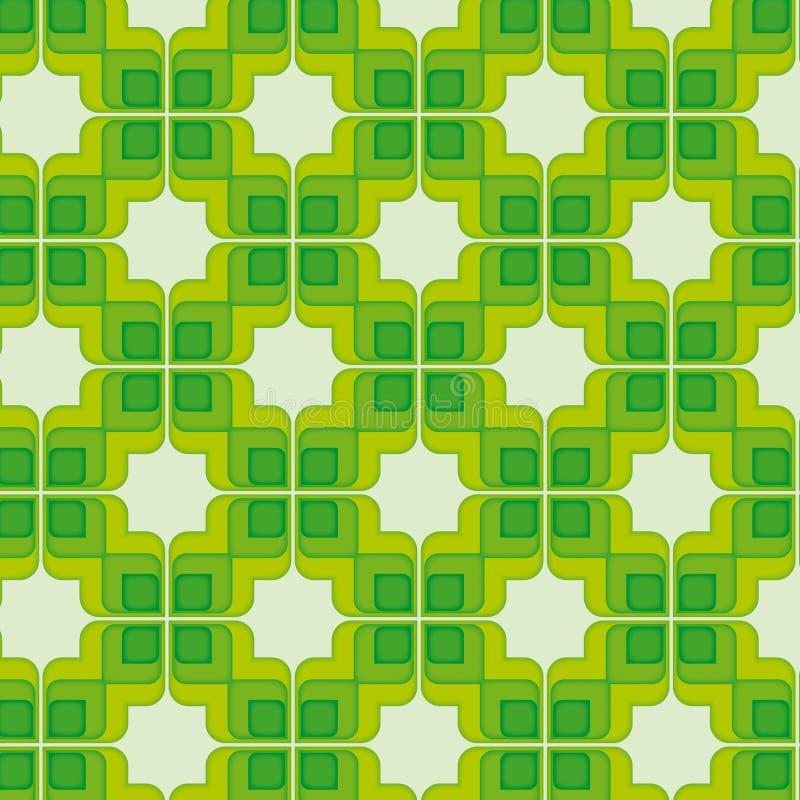Groen Uitstekend Naadloos Patroon stock illustratie
