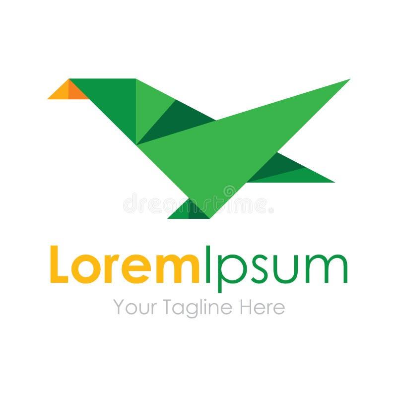 Groen van het de bedrijfs vogelelement van schoonheids geometrisch veelhoeken de pictogrammen embleem vector illustratie