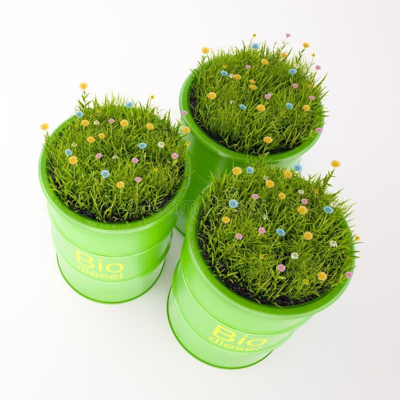 Groen vat biobrandstof stock foto's