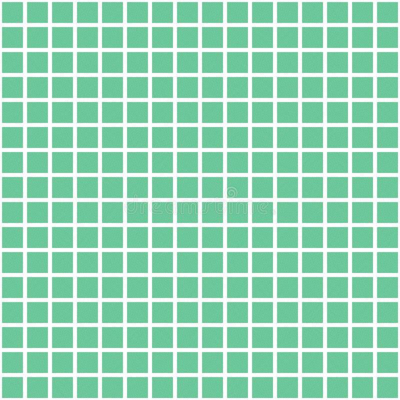 Groen vector vierkant netpatroon Naadloze textuur royalty-vrije illustratie