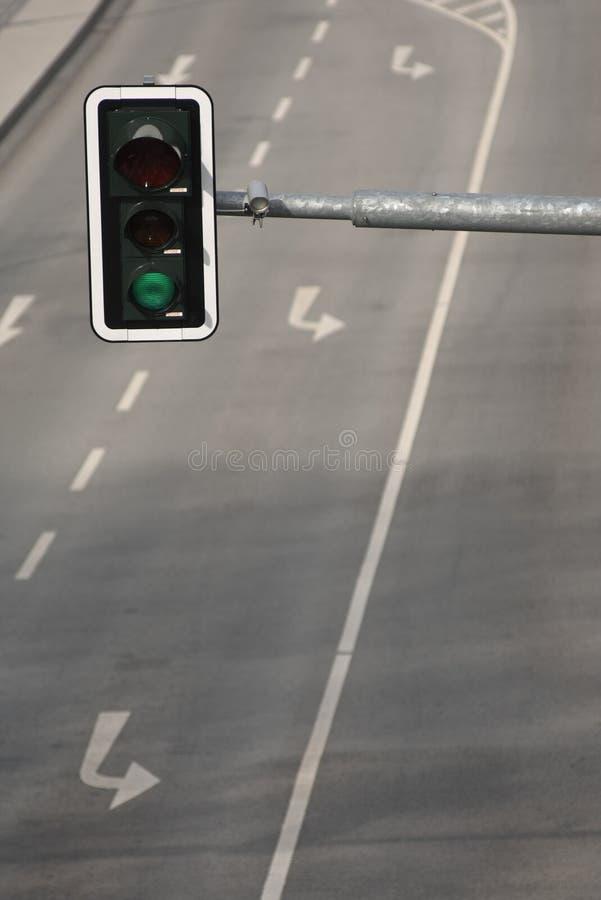 Groen verkeerslicht royalty-vrije stock fotografie