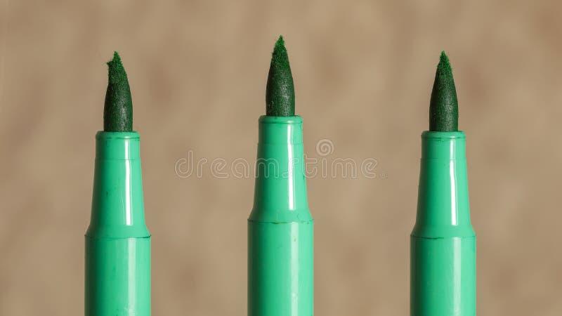 Groen vilt-uiteinde verstoord tellersuiteinde stock afbeeldingen
