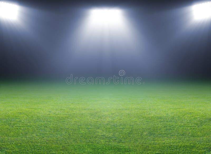 Groen voetbalgebied royalty-vrije stock afbeelding