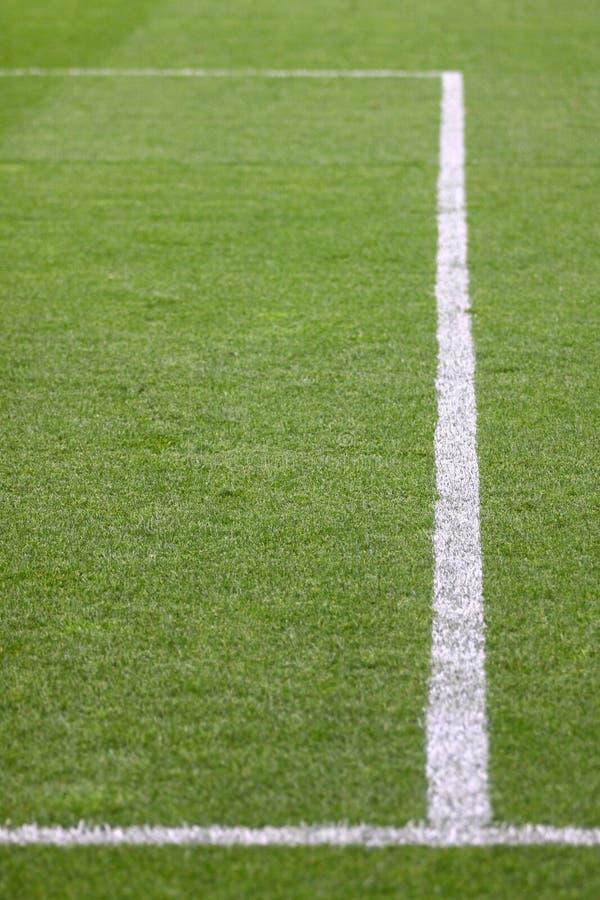 Groen voetbalgebied royalty-vrije stock foto's
