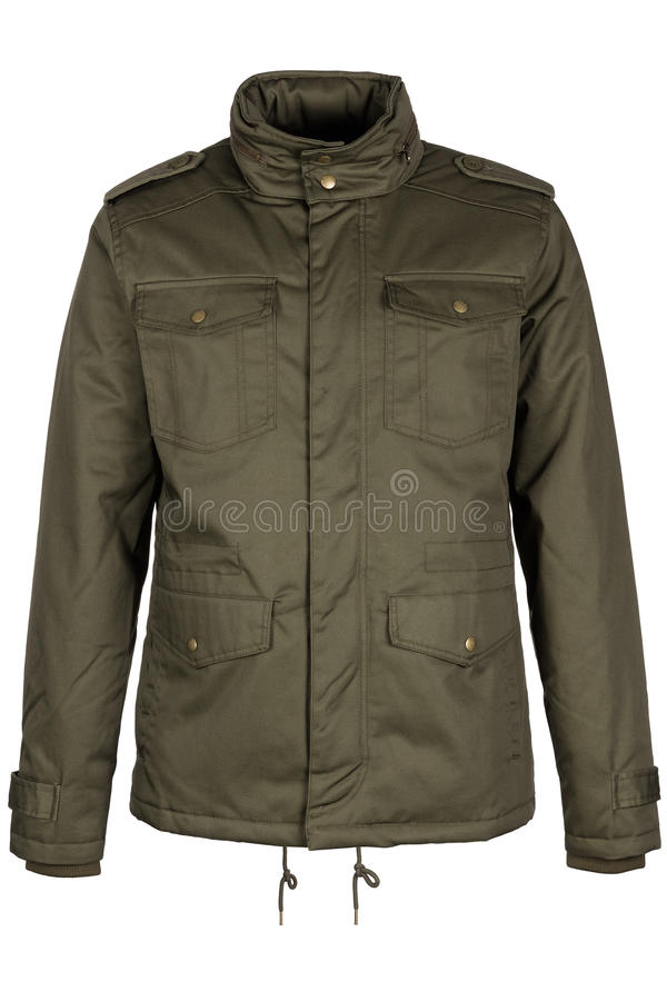 Groen warm jasje stock afbeeldingen