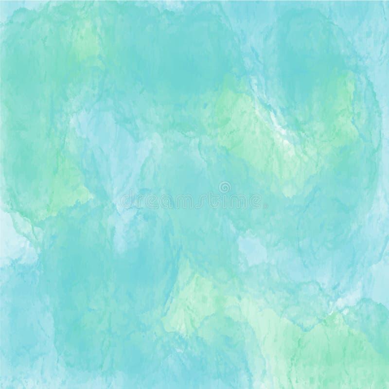 Groen waterverf achtergrond vectortextuurpatroon voor websites, presentaties of kunstwerk stock illustratie