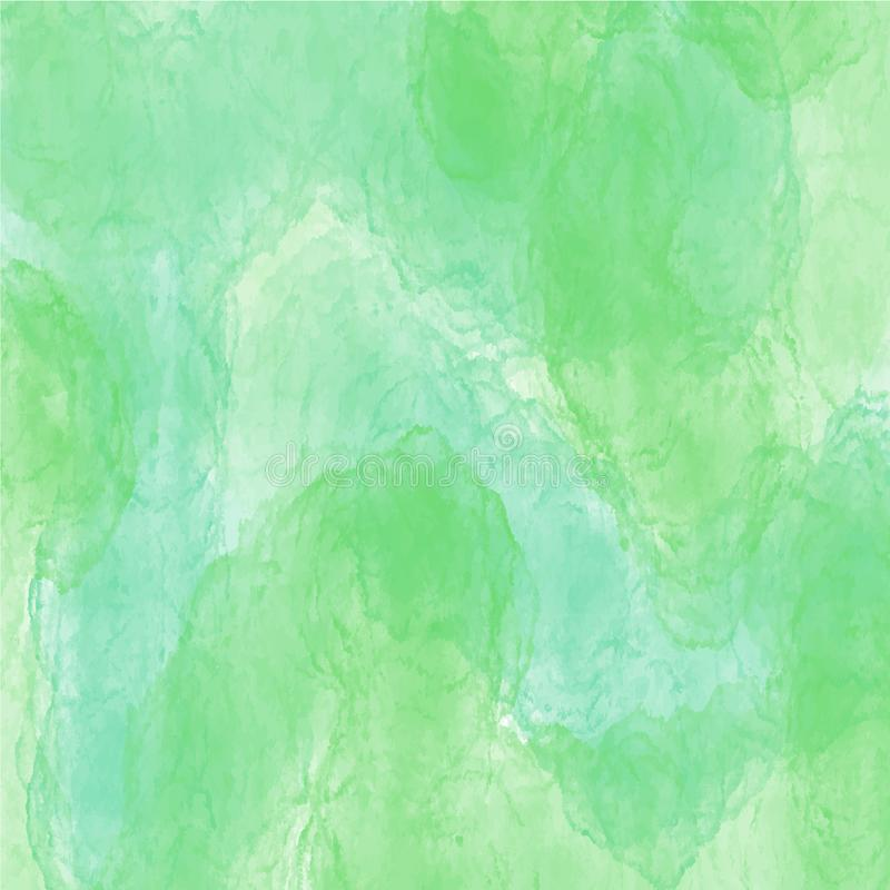 Groen waterverf achtergrond vectortextuurpatroon voor websites, presentaties of kunstwerk vector illustratie