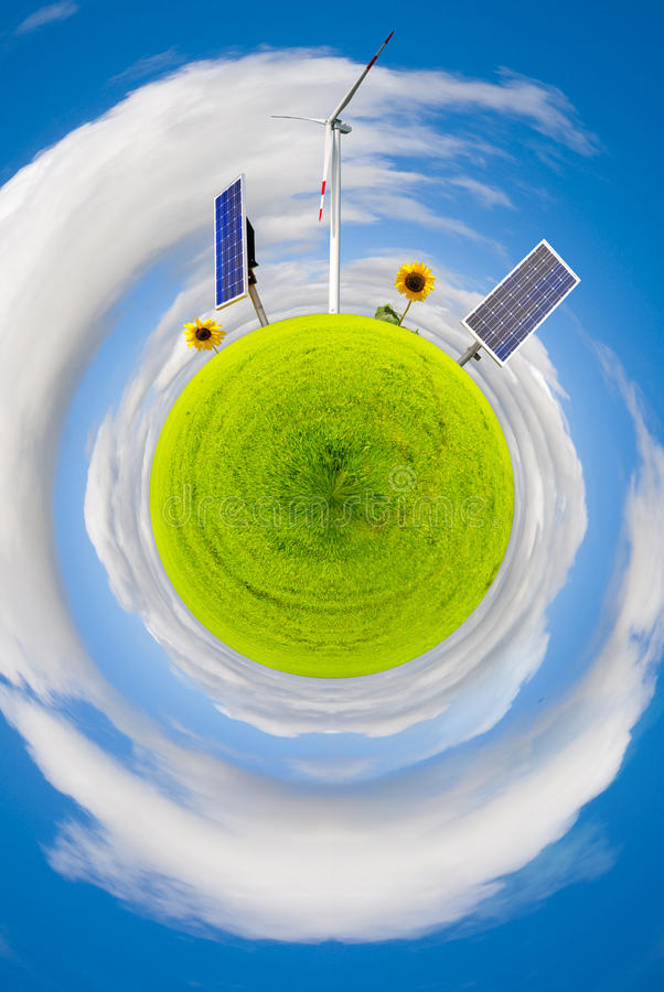 Groen wereldconcept royalty-vrije stock foto