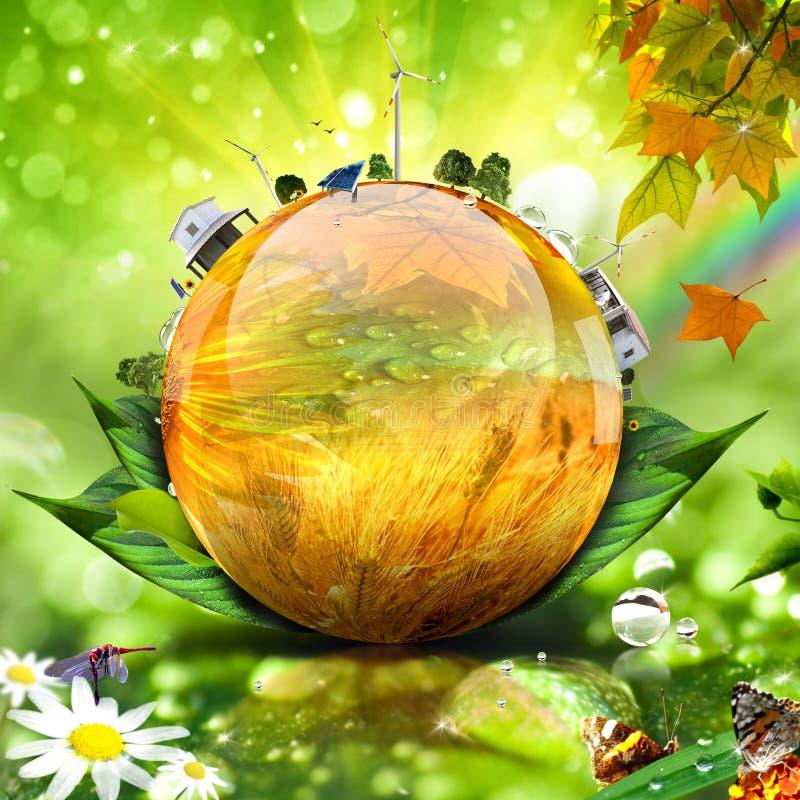 Groen wereldconcept royalty-vrije stock afbeelding