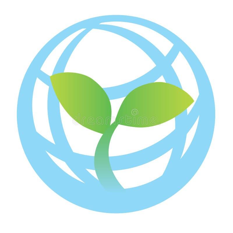Groen wereldembleem royalty-vrije illustratie