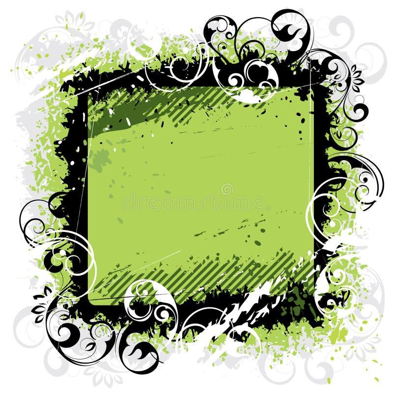 Groen zwart frame als achtergrond stock illustratie