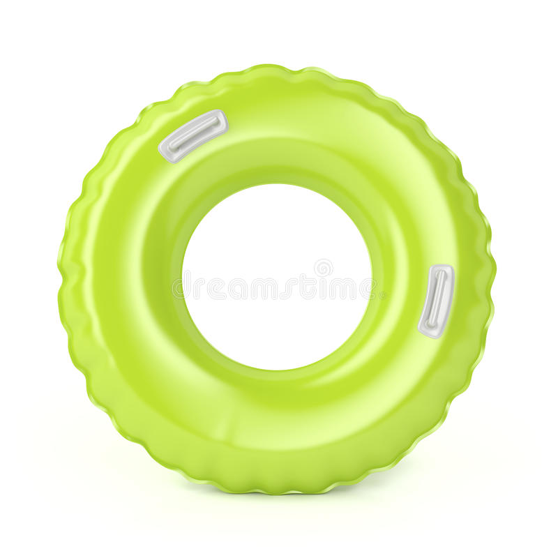 Groen zwem ring royalty-vrije illustratie