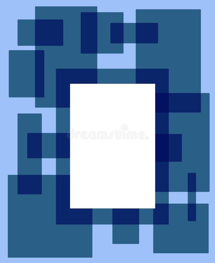 Groenachtig blauw rechthoekframe stock illustratie