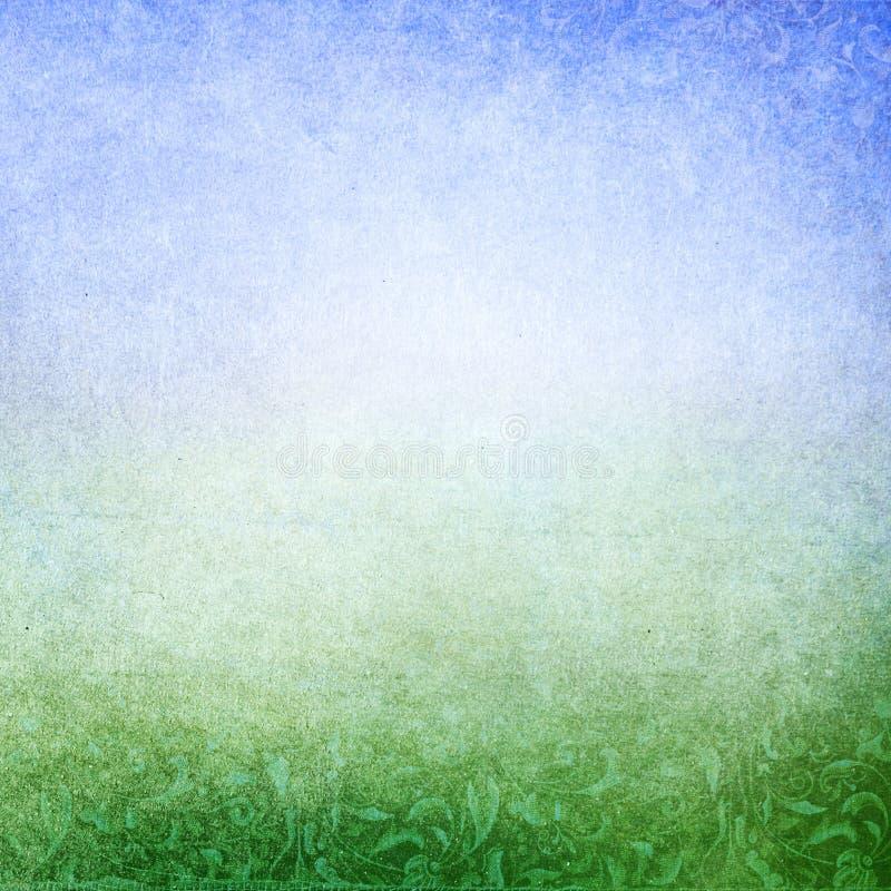 Groenachtig blauwe abstracte weideachtergrond royalty-vrije illustratie