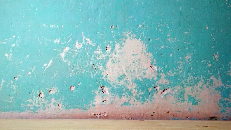 Groenachtig blauwe de muurachtergrond van de Grungetextuur royalty-vrije stock foto