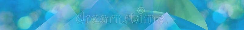 Groenachtig blauwe het Webbanner van het aqua abstracte panorama vector illustratie