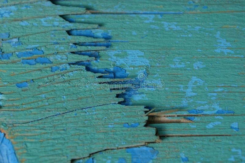 Groenachtig blauwe houten textuur van oude plank stock fotografie