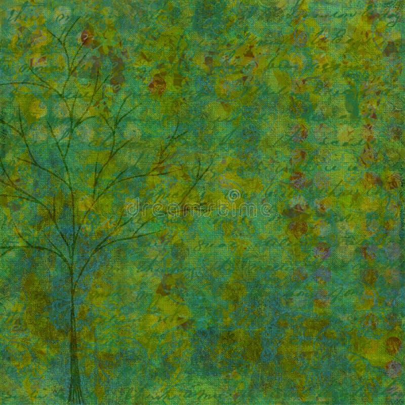 Groenachtig blauwe roestige Achtergrond royalty-vrije stock foto's