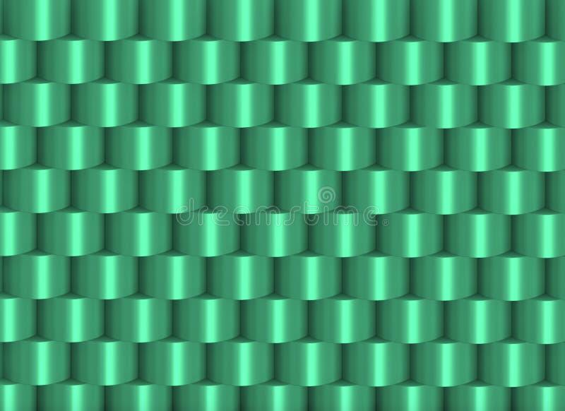 Groenachtige gestapelde cilinders die een kader vormen royalty-vrije illustratie