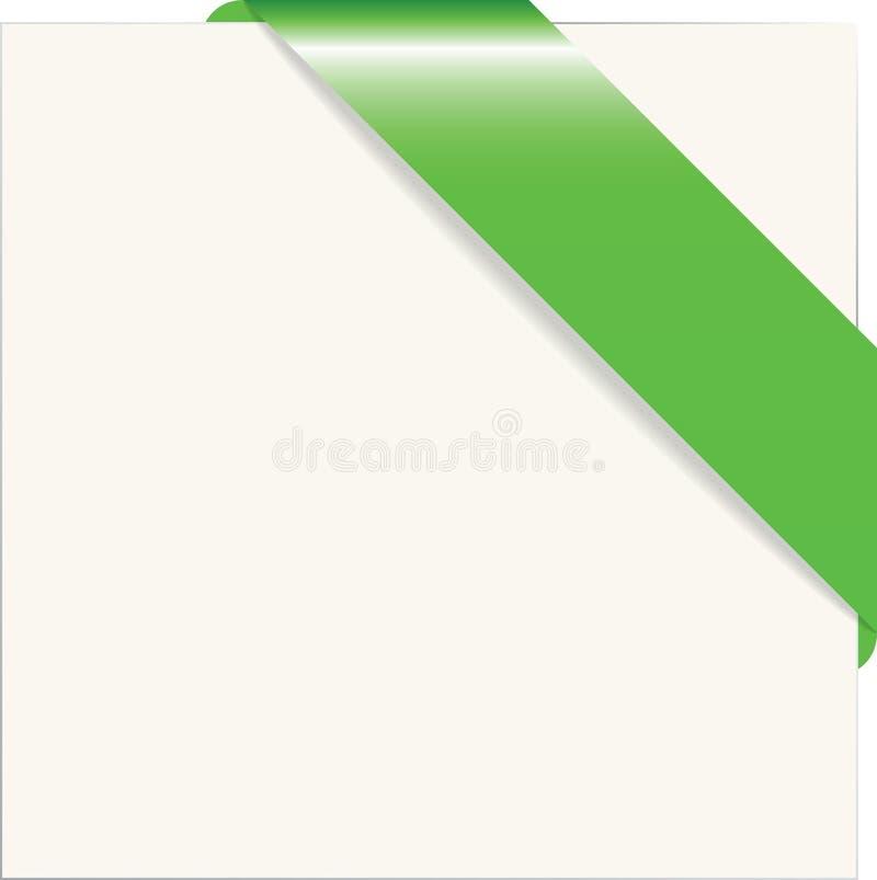 Groenboekhoek vector illustratie