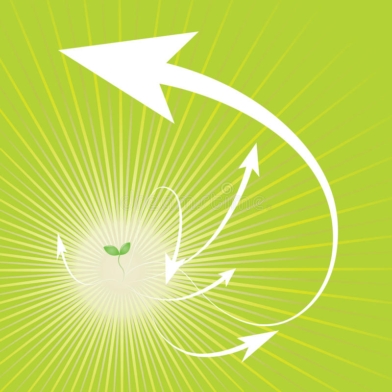 groende royaltyfri illustrationer