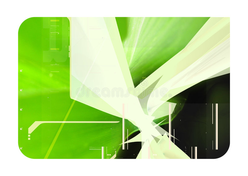 Groene 3d abstracte samenstelling stock afbeelding