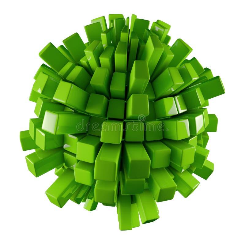 Groene 3D abstractie stock illustratie