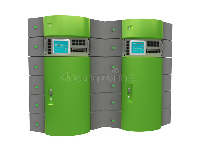 Groene 3d server vector illustratie