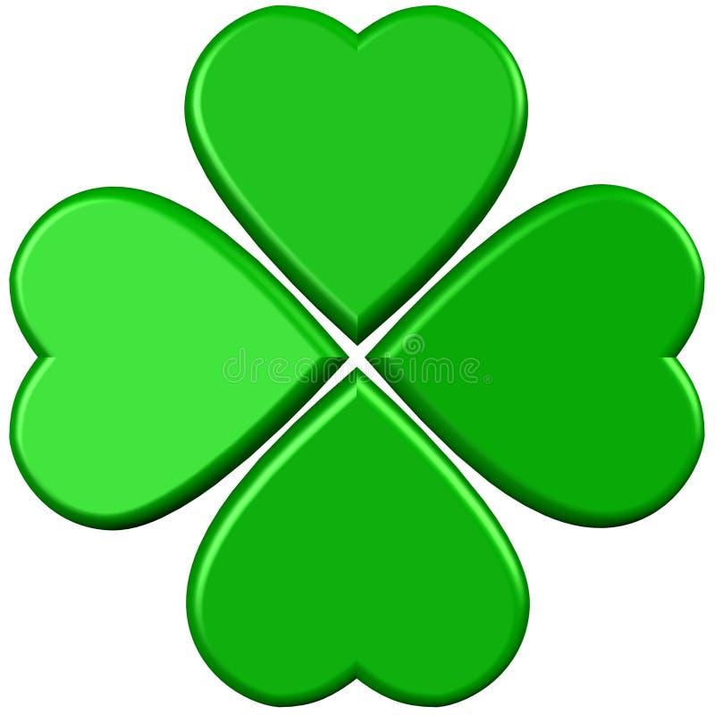Groene 4 bladerenklaver vector illustratie