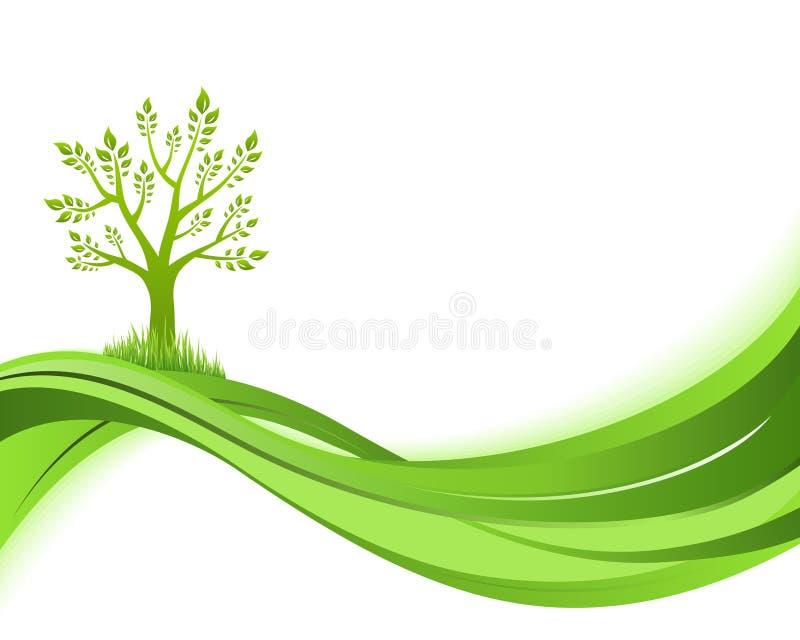 Groene aardachtergrond. Het conceptenillustratie van Eco stock illustratie