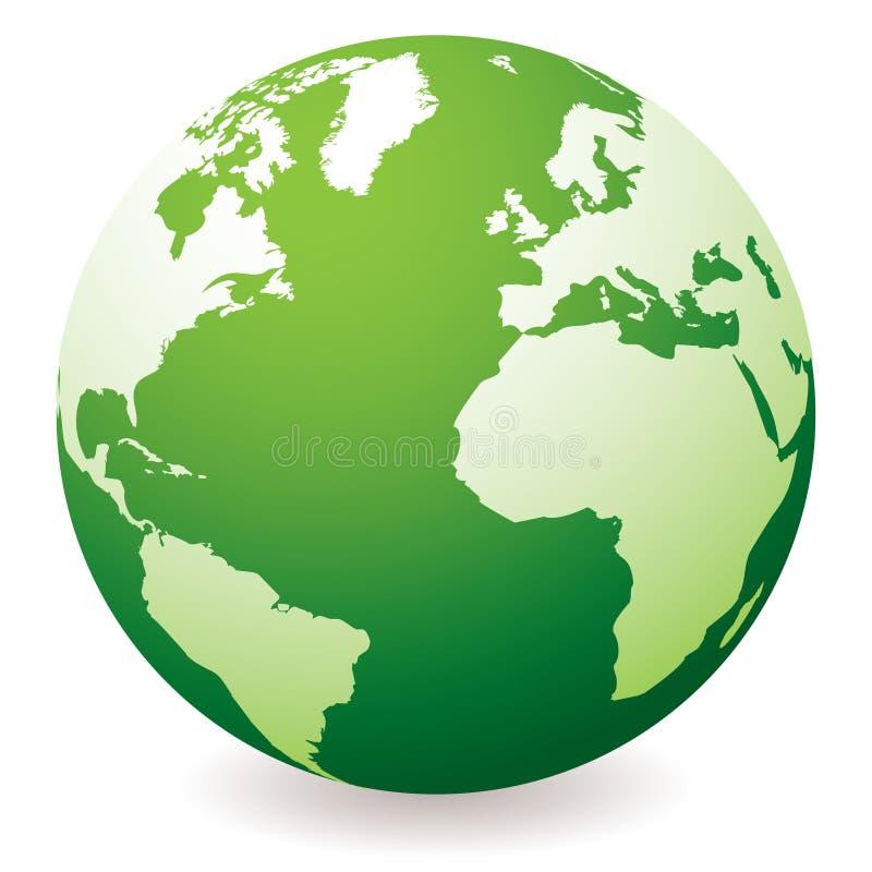 Groene aardebol stock illustratie