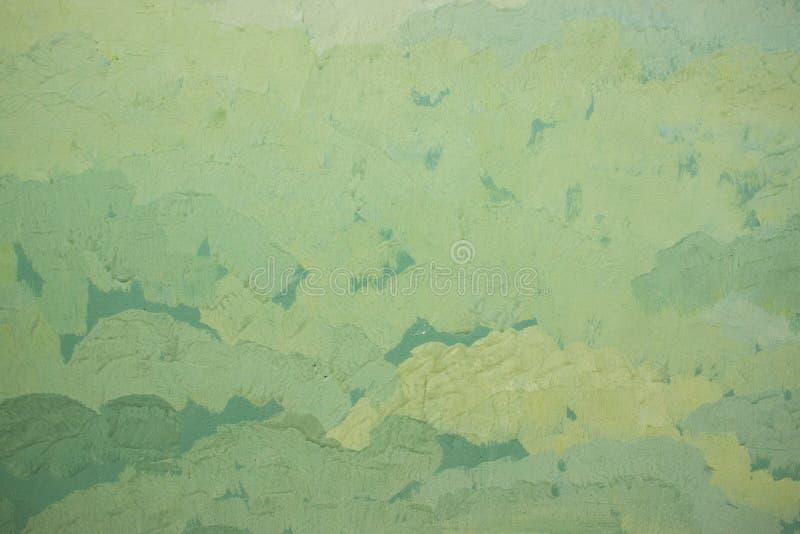 Groene abstracte achtergrondolieverfslagen van verschillende schaduwen royalty-vrije stock afbeeldingen