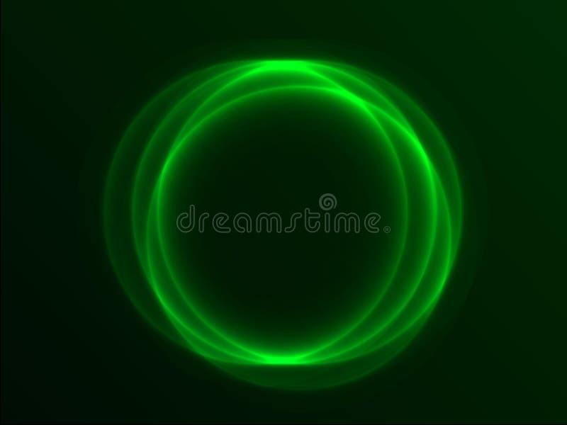 Groene abstracte cirkel royalty-vrije illustratie
