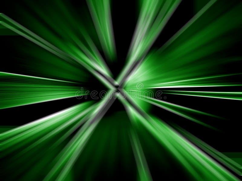 Groene abstracte draaien royalty-vrije illustratie