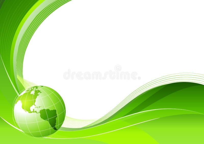 Groene abstracte lijnenachtergrond stock illustratie
