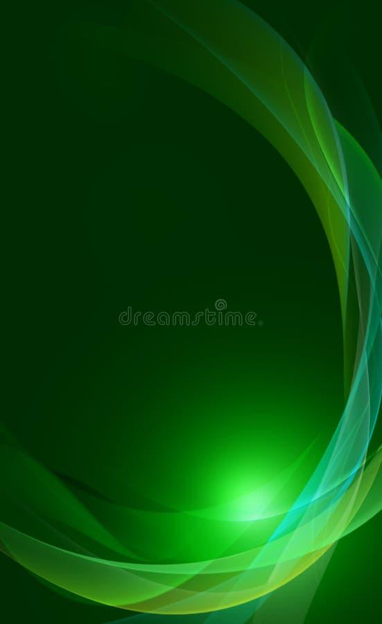 Groene abstracte samenstelling stock illustratie