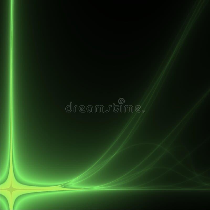 Groene abstractie stock illustratie
