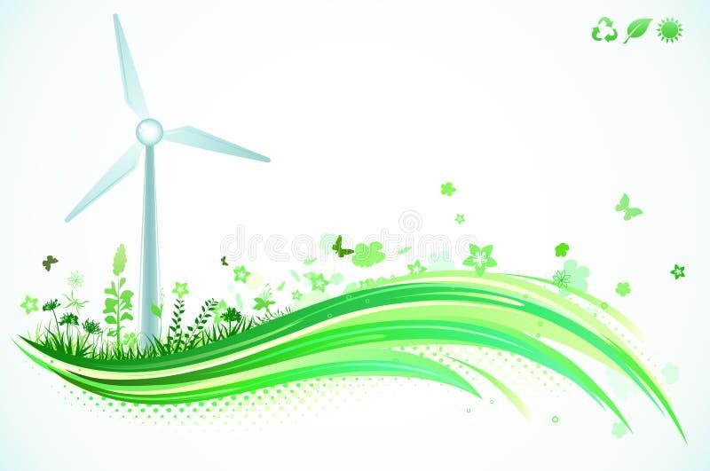 Groene Achtergrond Eco vector illustratie