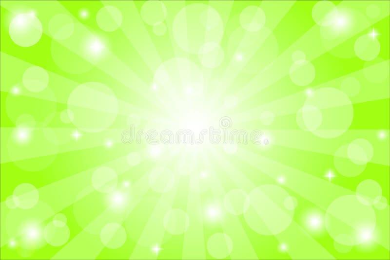 Groene Achtergrond met Bokeh met Gradiëntnetwerk, Vectorillustratie stock illustratie