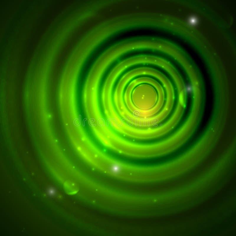 Groene achtergrond met fonkelingen stock illustratie