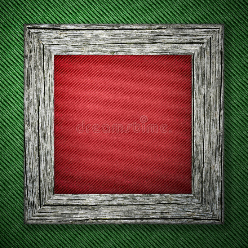 Groene achtergrond met gestreept patroon en houten kader stock fotografie